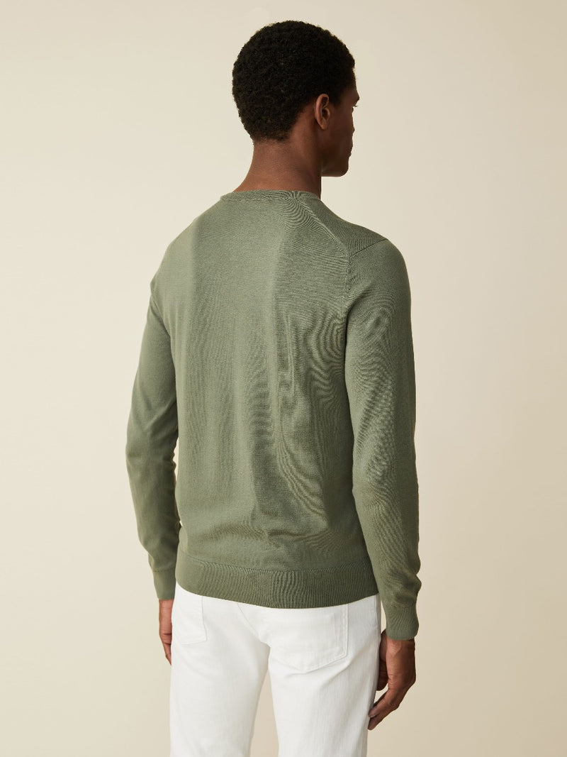 Fine Cotton And Silk Crewneck
