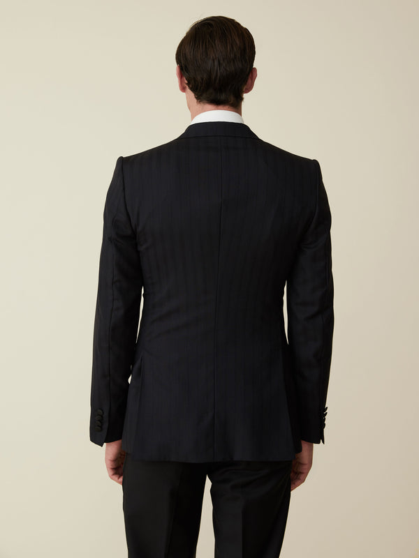Midnight Double-breasted Wool Dinner Jacket