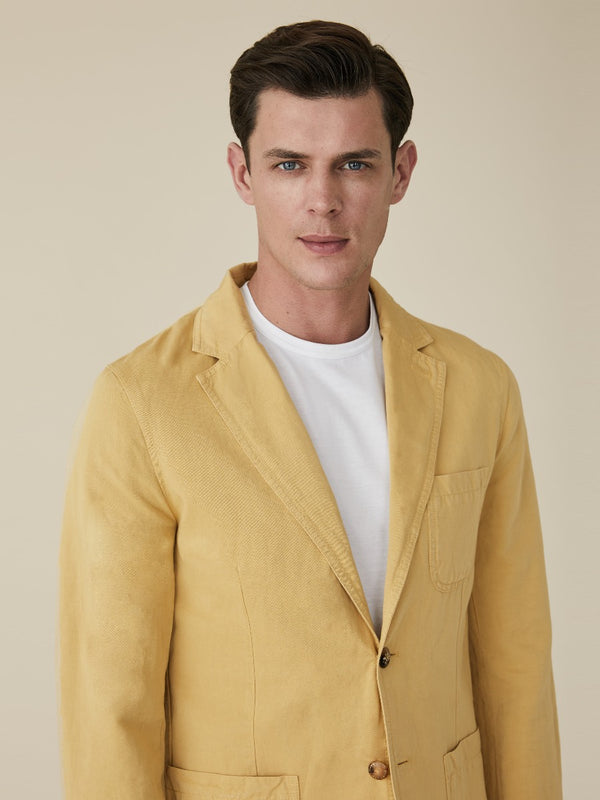 Cotton And Linen Utility Blazer