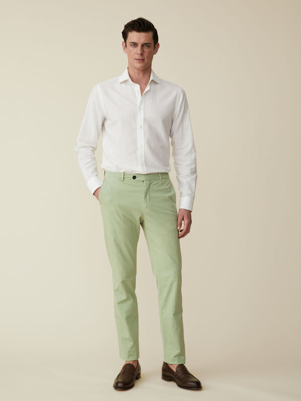 Slim Fit Cotton And Linen Chinos