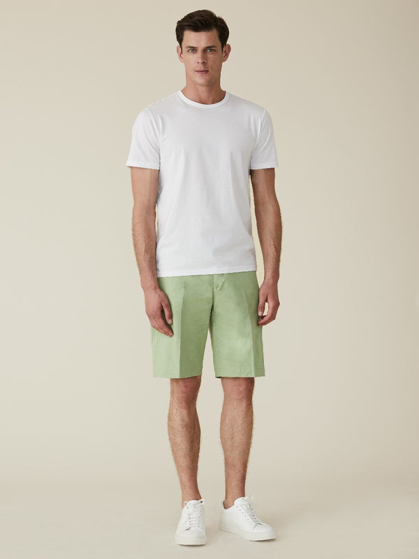 Cotton And Linen Chino Shorts