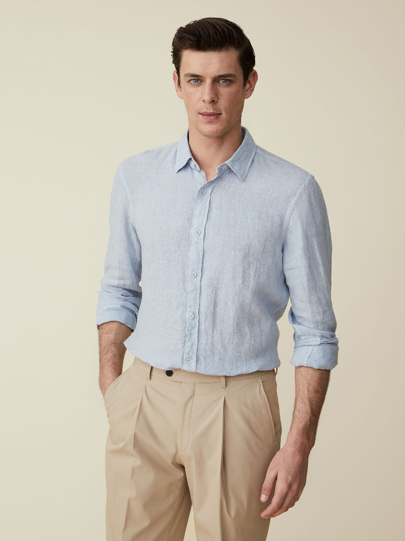 Linen Plainweave Casual Shirt