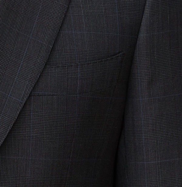 Concrete Wool Shadow Check Suit Jacket