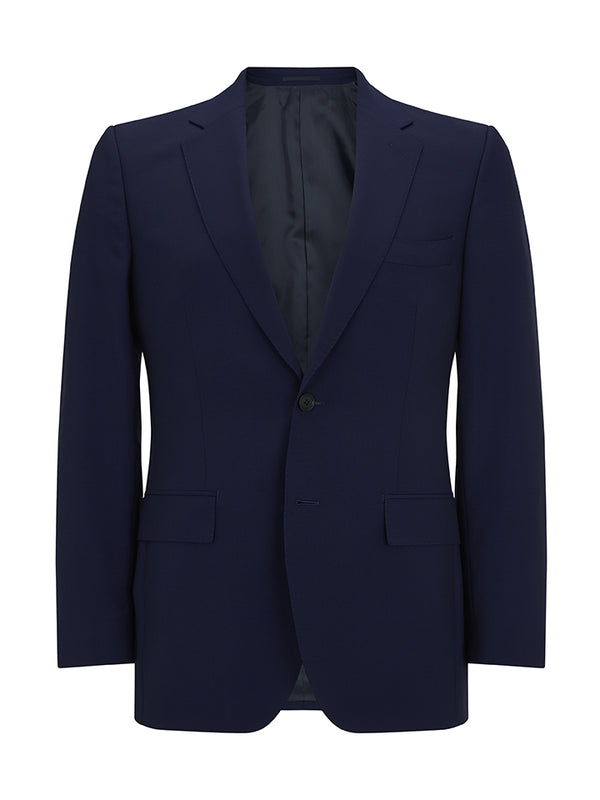 Navy Wool And Mohair Suit Jacket