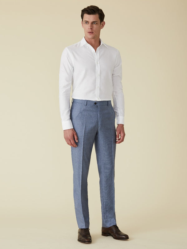 Textured Wool Suit Trousers