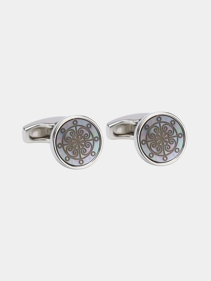 Nautical Mother-of-pearl Cufflinks