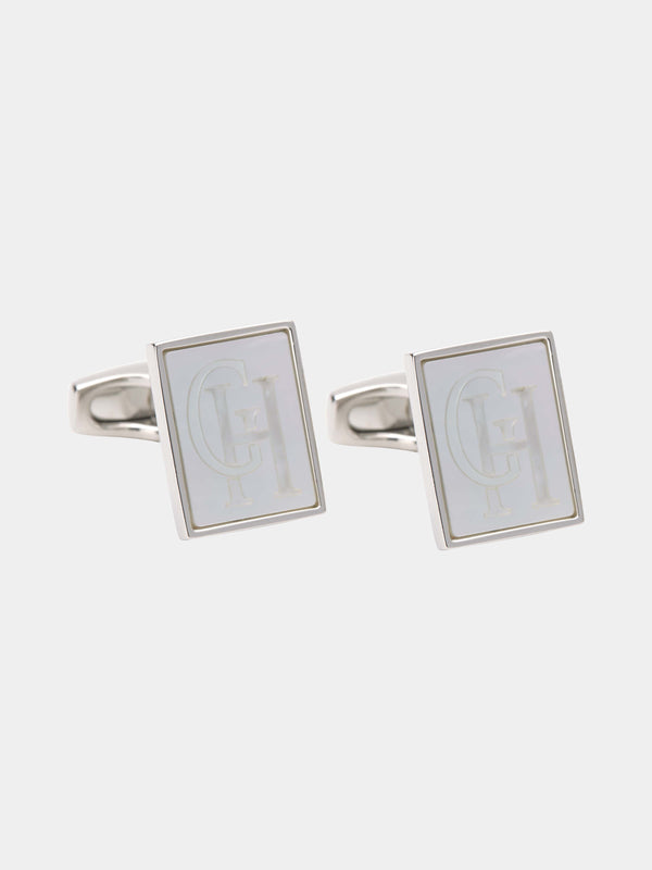 G&h Monogrammed Mother-of-pearl Cufflinks