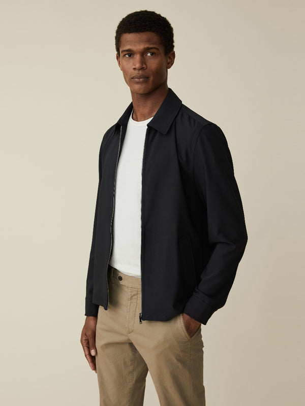 Navy Zip-up Overshirt