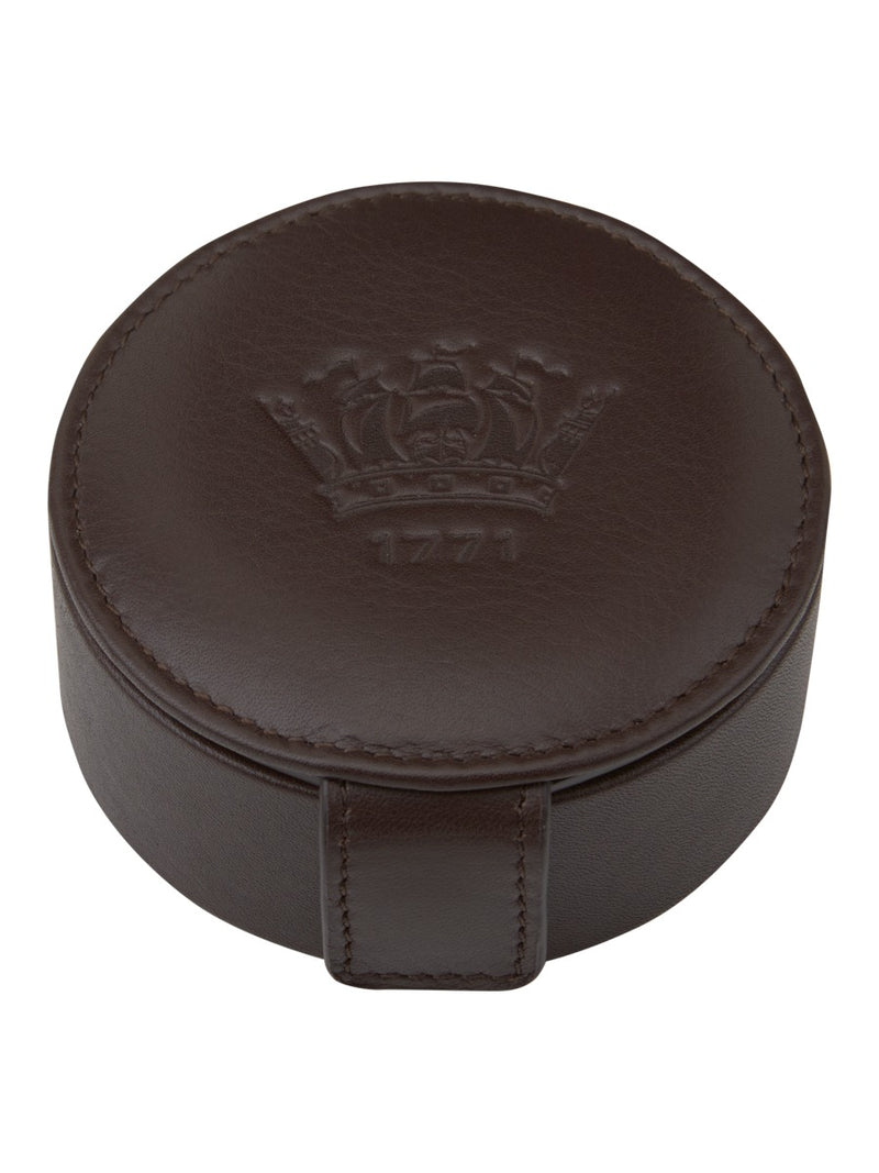 Chocolate Brown Leather Stud Box