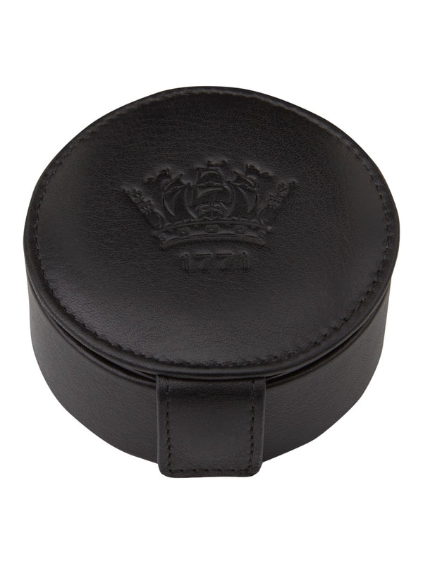 Black Leather Stud Box