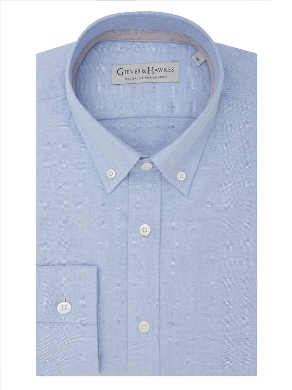 Light Blue Fine Oxford Casual Shirt