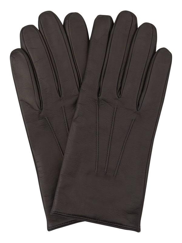Black Fine Leather Gloves