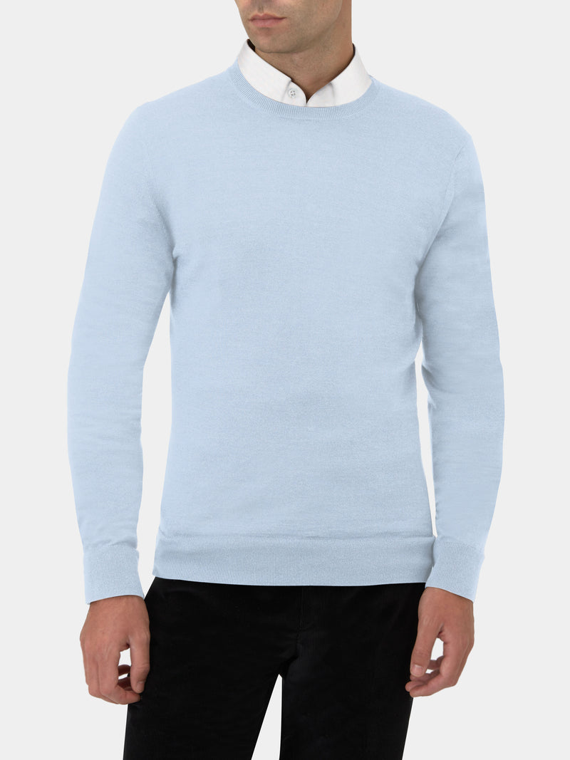 Cashmere, Merino And Silk Crewneck