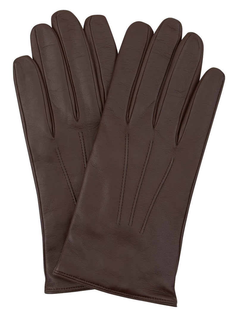 Dark Brown Fine Leather Gloves