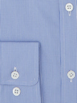 Light Blue Mini Check Tailored Fit Shirt