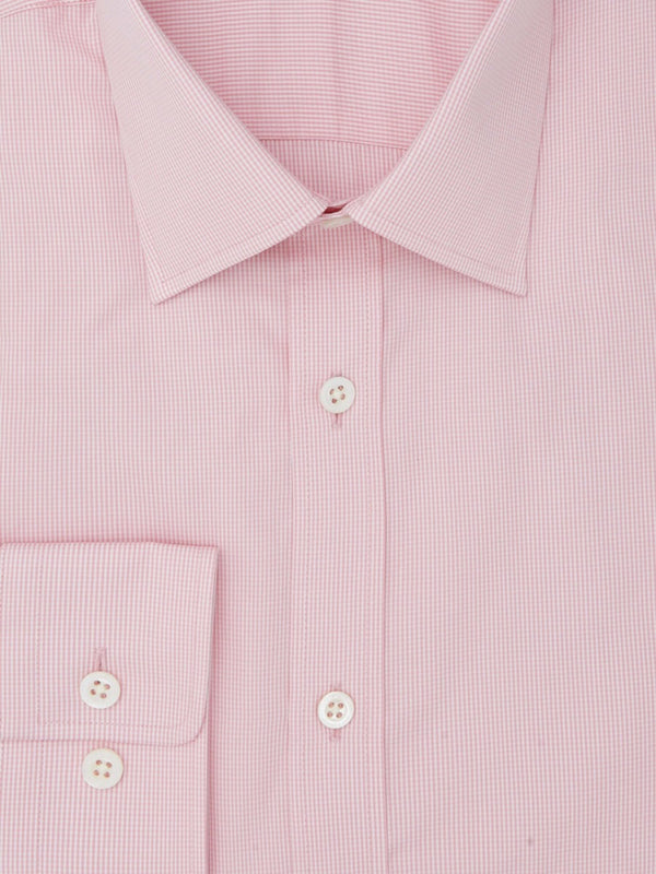 Light Pink Mini Check Tailored Fit Shirt