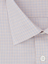 Orange & Blue Overcheck Tailored Fit Shirt