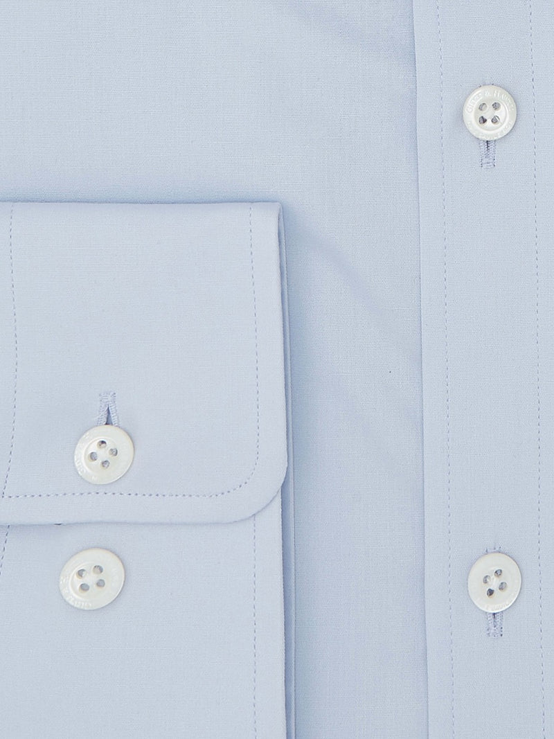 Sky Blue Tailored Fit Shirt With Stretch