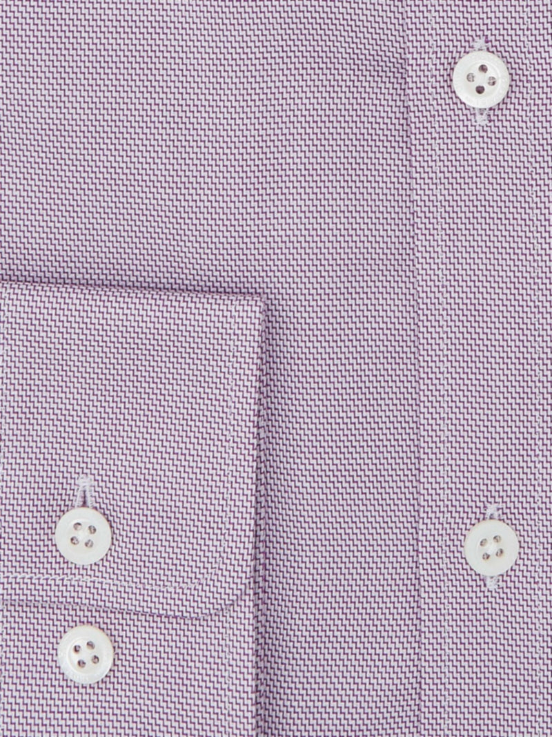 Lilac Sharkskin Tailored Fit Shirt