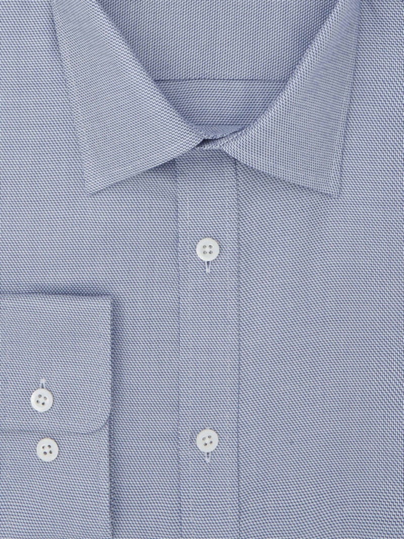 Blue Sharkskin Tailored Fit Shirt