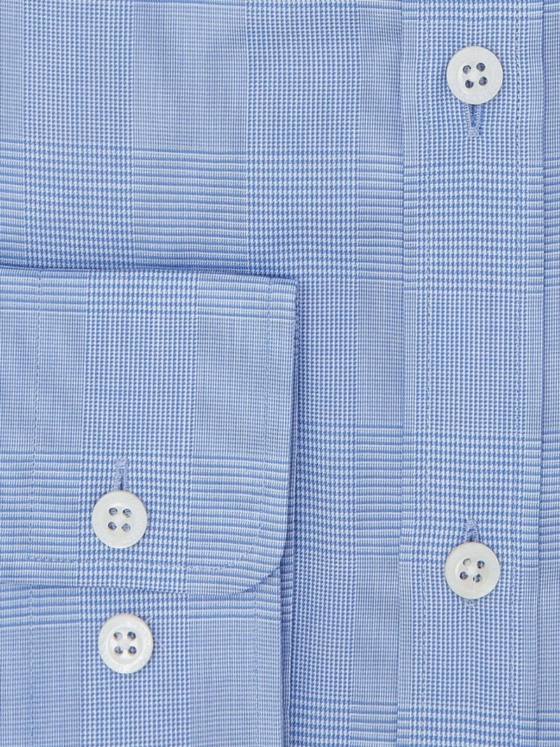 Blue Check Tailored Fit Shirt