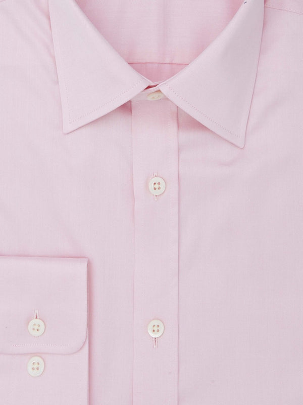 Pink Twill Tailored Fit Shirt