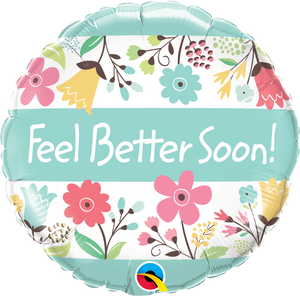 Microfoil Feel Better Soon! Floral