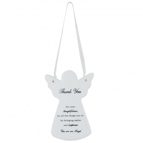 Guardian Angel Ceramic Plaque Thank You