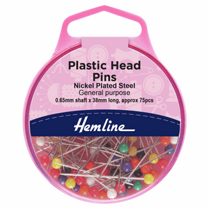Pins Plastic Head 38mm Nickel 75 Pieces