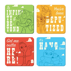 Toy Story Set Of 4 Coasters