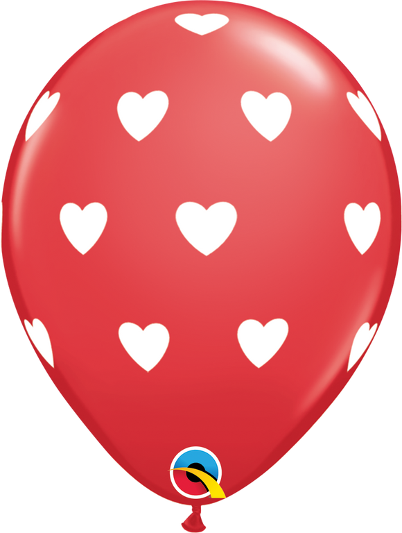 Big Hearts Latex Balloons