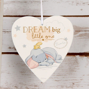 Disney Magical Beginnings Heart Plaque Dream Big