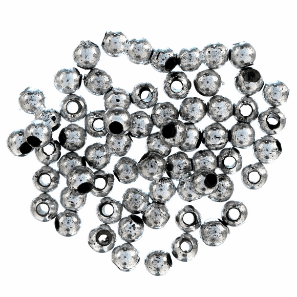 Beads Plated 4mm Silver 45