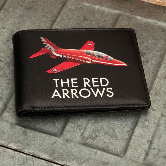 Military Heritage Leather Wallet Red Arrows