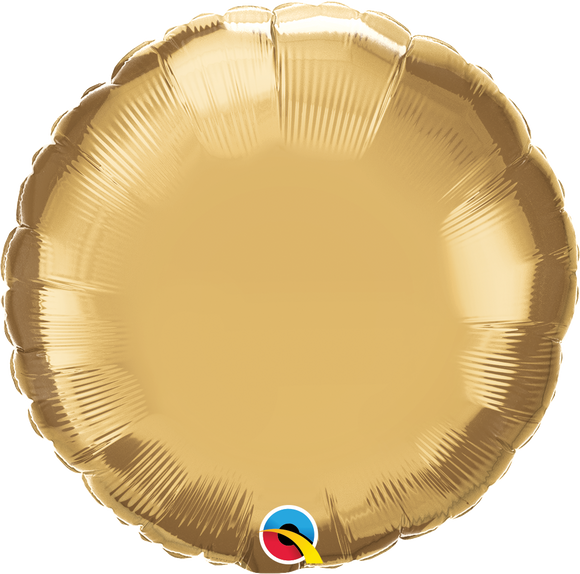 Microfoil Chrome Gold Round