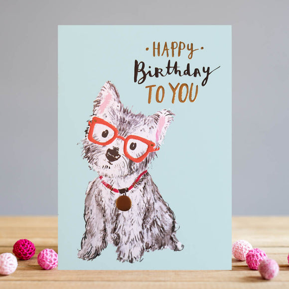 Birthday Westie Card