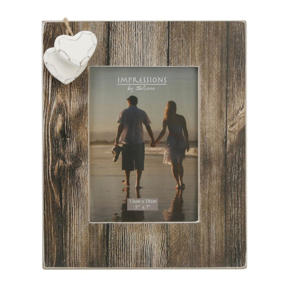 Home Living Distressed Wood Photo Frame