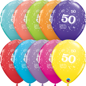 50-A-Round Latex Balloons