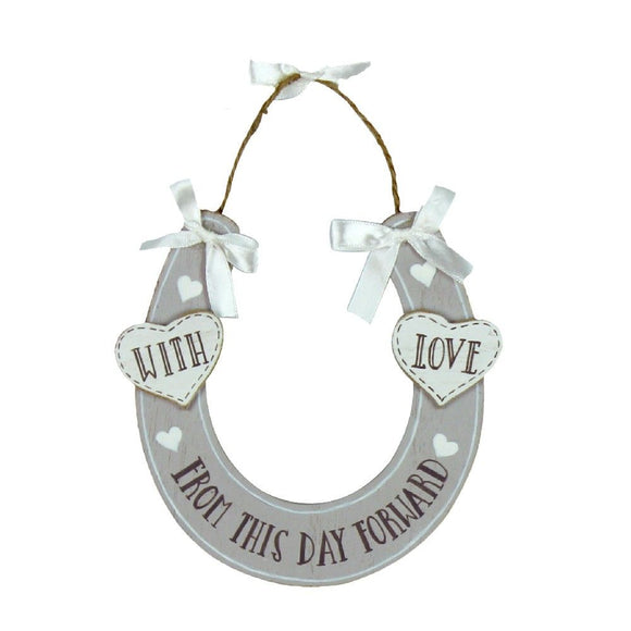 Love Story 'With Love' Horse Shoe Plaque