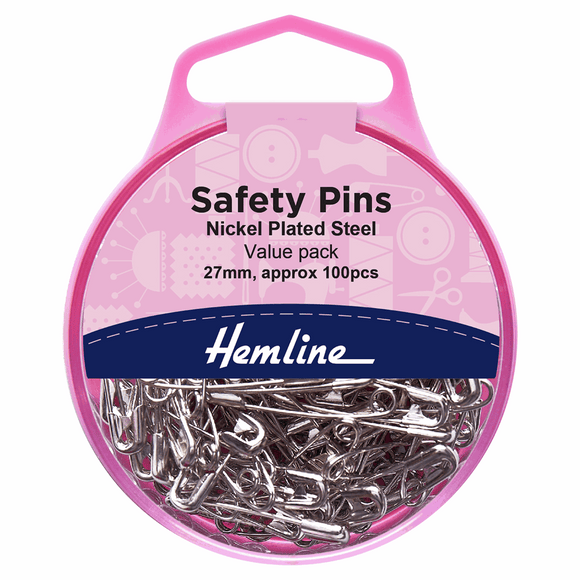 Safety Pins Value Pack Nickel 100 Pieces