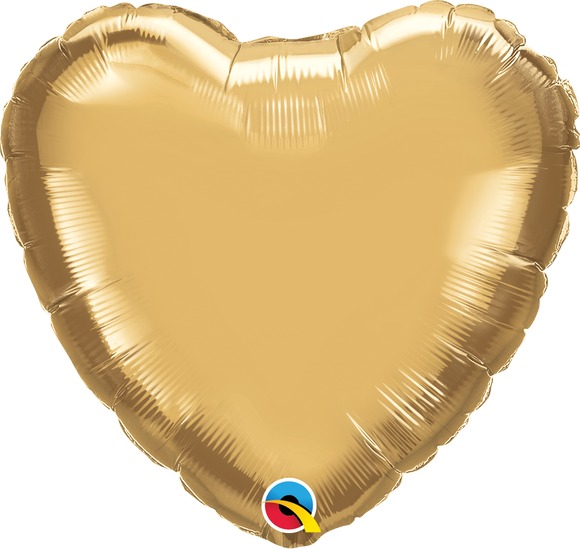 Microfoil Chrome Gold Heart