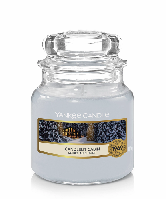 Candlelit Cabin Small Jar