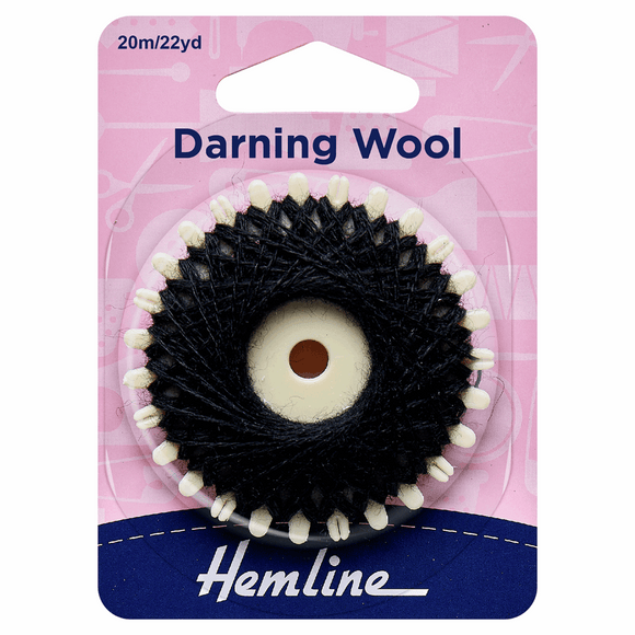 Darning Wool 20m Black