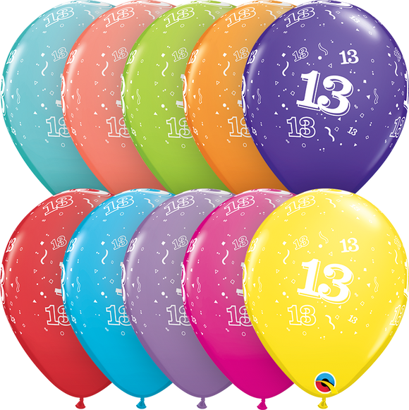 13-A-Round Latex Balloons