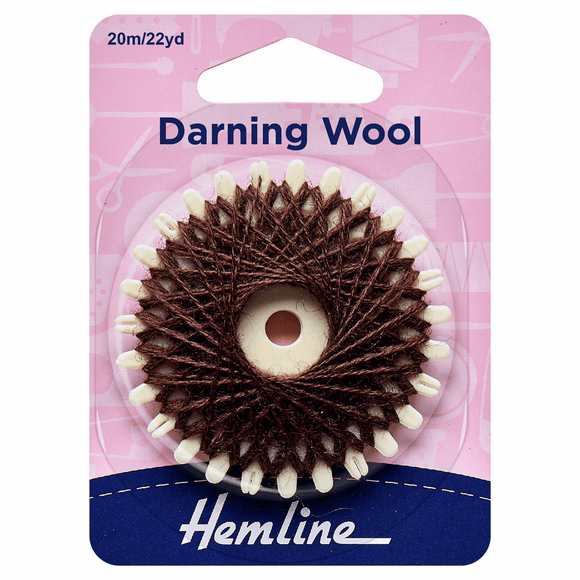 Darning Wool 20m Brown