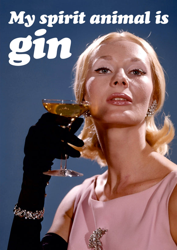 My Spirit Animal Is Gin Card