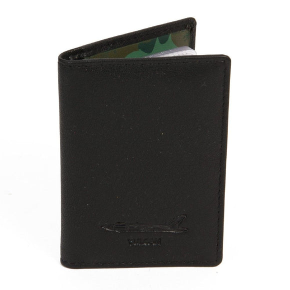 Military Heritage Leather Card Wallet Vulcan