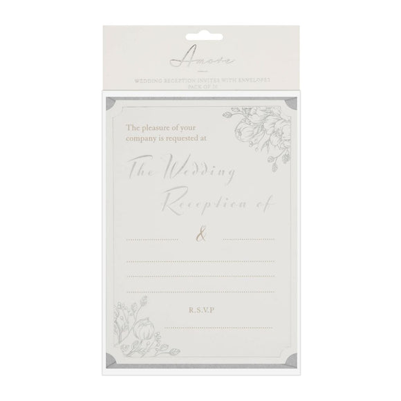 Amore Wedding Reception Invites Pack Of 20