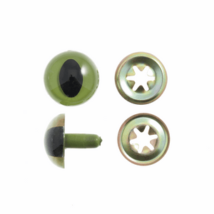 Toy Eyes Cats 12mm Green