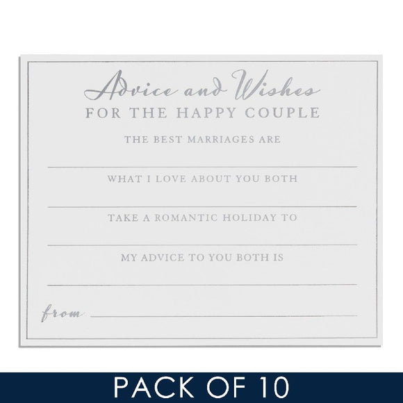 Amore Wedding Advice Cards Pack Of 10